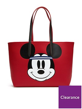 Lacoste Holiday Collection Mickey Tote Bag Reversible Shopper Red Pk8nOwX0