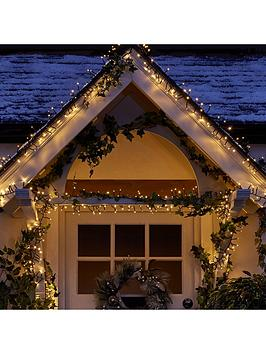 Compare retail prices of 1000 Multi Function Warm White Indoor/Outdoor Cluster Christmas Fairy Lights With Timer to get the best deal online