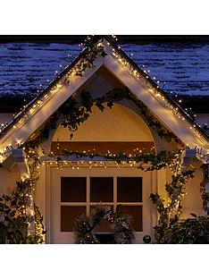 720 multi function warm white indooroutdoor christmas cluster lights with timer