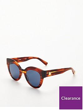 max-mara-oval-lens-sunglasses-bluetort
