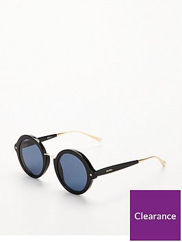 max-mara-round-sunglasses-black