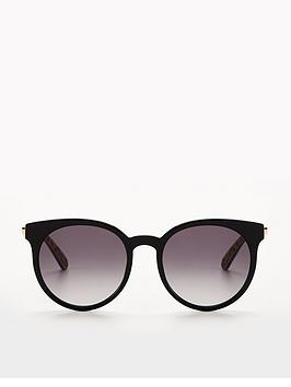 91e41da381 ... LOVE MOSCHINO Leopard Logo Arm Sunglasses - Black. View larger