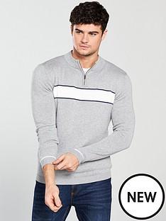 selected-homme-ivan-zip-neck-jumper