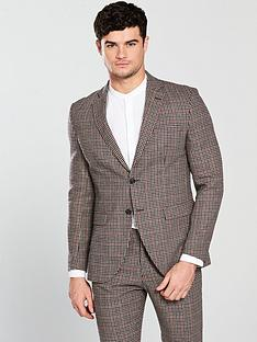 selected-homme-mini-check-suit-blazer
