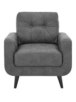 Very Skandi Faux Leather Armchair Picture
