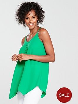 v-by-very-button-through-longline-caminbsp--green