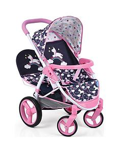 hauck-unicorn-malibu-doll-twin-stroller
