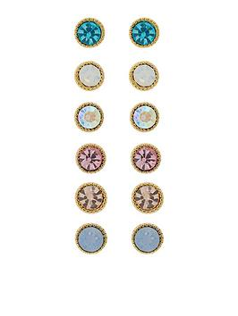 accessorize-pack-of-6-multi-stone-stud-set