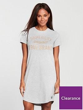 superdry-embellished-slim-t-shirt-dress-grey-marl