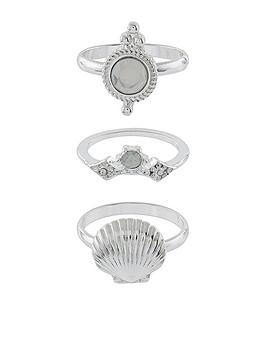 accessorize-mermazing-stacking-ring-set-silver