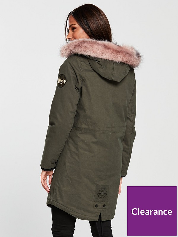 exceptional range of styles good out x professional design Frankie Faux Fur Lined Parka - Khaki