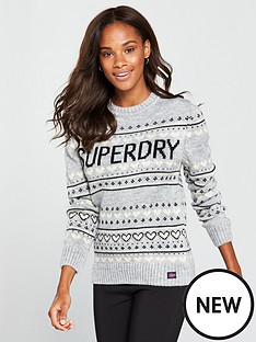 superdry-cleveland-fair-isle-knit-mid-grey