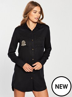 superdry-cora-military-shirt-dress-black