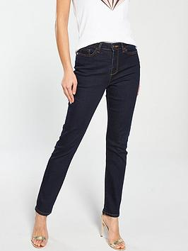 V by Very V By Very Isabelle High Rise Slim Leg Jean - Rinse Wash Picture
