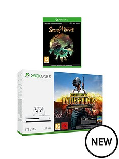 xbox-one-s-1tb-console-and-playerunknowns-battlegrounds-and-sea-of-thievesnbspplus-optional-extra-controller-andor-12-months-live