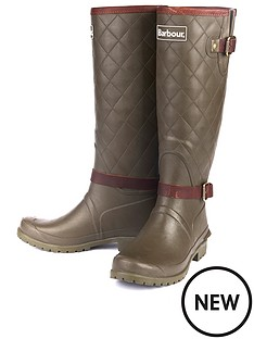 barbour-lindisfarne-wellington-boot-olive