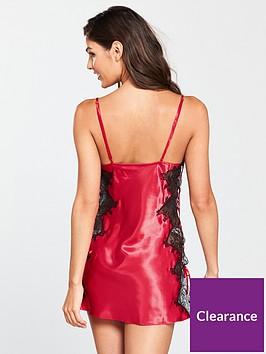 b726234f7f8f6 Boux Avenue Sophia Strappy Chemise - Dark Red/Black | littlewoods.com