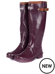 barbour-blyth-wellington-boot-aubergine