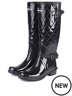 barbour-lindisfarne-wellington-boot-black