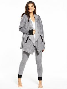 dkny-long-sleeve-hooded-lounge-set-grey