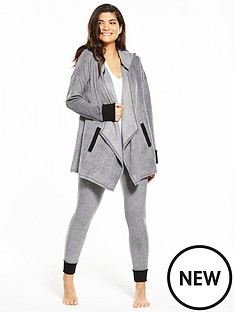 dkny-long-sleeve-hooded-lounge-set-grey