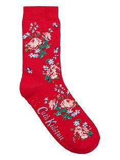 cath-kidston-eiderdown-bunch-floral-bedsocksnbsp--red