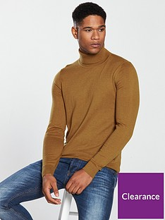 boss-roll-neck-jumper-dark-camel