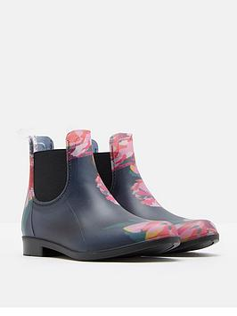joules girls floral pvc boot
