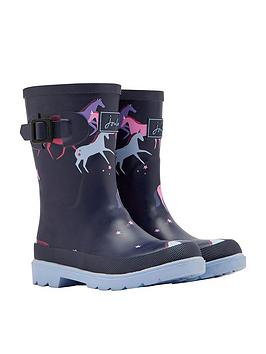 joules-girls-unicorn-wellies-navy