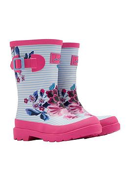joules-girls-floral-wellies