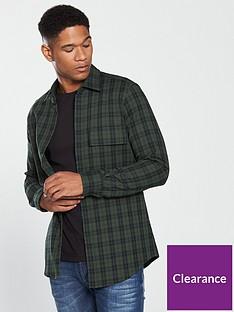 boss-long-sleeve-check-shirt-olivenbsp