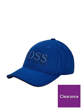 boss-logo-pique-cap-blue