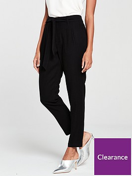 wallis-paperbag-trouser-black