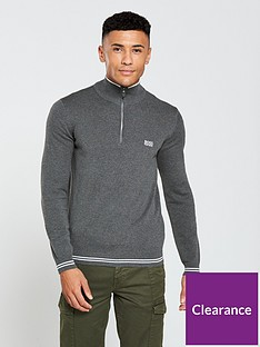boss-half-zip-jumper-grey