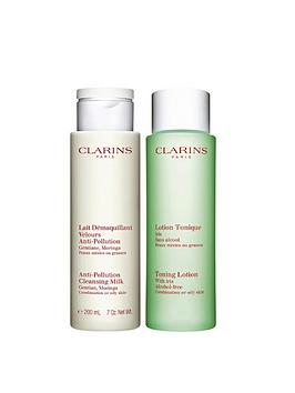 Clarins Clarins Clarins Cleansing And Toning Duo Pack For Normal/Dry Skin Picture