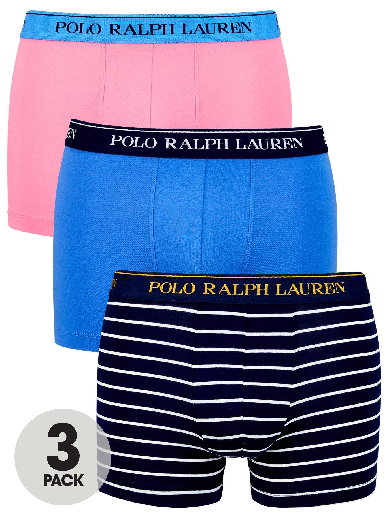 7458989efc ... ebay polo ralph lauren 3pk stripe plain trunk 9bd33 76e5a