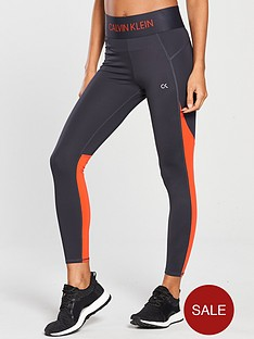 calvin-klein-performance-performance-78-panelled-tight-greyorange