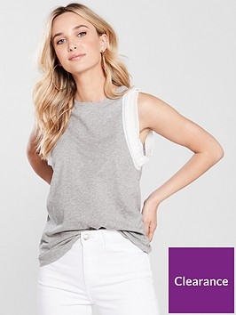 river-island-frill-sleeve-tank--grey