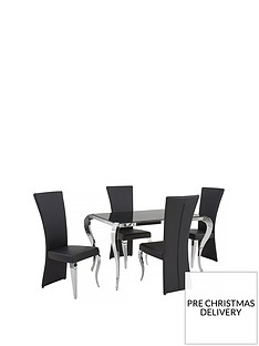 boutique-139-cm-glass-dining-table-4-chairs