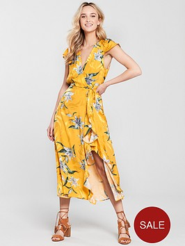 river-island-jacquard-floral-frill-dress-bright-yellow