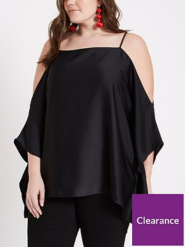 ri-plus-cold-shoulder-top-black