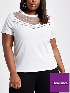 ri-plus-mesh-detail-t--shirt-white