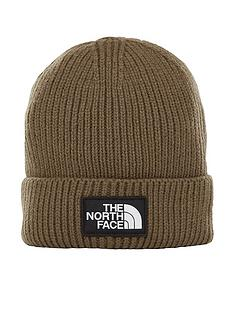 the-north-face-logo-box-cuffed-beanie-khaki