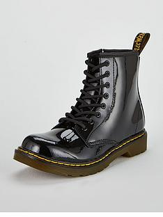 dr-martens-girls-junior-1460-patent-boot-black