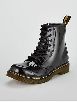 Dr Martens Dr Martens Girls 1460 Patent Boots - Black Picture