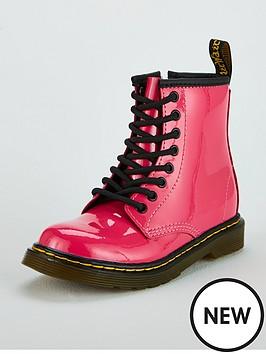 dr-martens-girls-infant-1460-patent-boot-pink