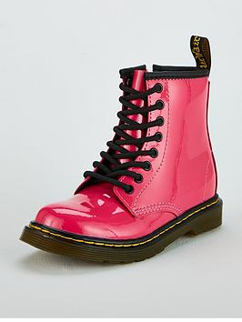 Dr Martens Dr Martens Girls 1460 Patent Boot - Pink Picture