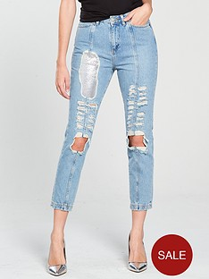 v-by-very-unique-chain-mail-ripped-denim-jean-mid-wash
