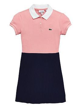 lacoste-girls-short-sleeve-polo-pleat-dress