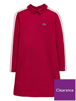 lacoste-girls-long-sleeve-polo-dress